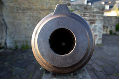 Castle waldeck germany with historic cannon Royalty Free Stock Image