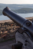 Castle waldeck germany with historic cannon Royalty Free Stock Photos