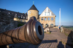 Castle waldeck germany with historic cannon Stock Photography