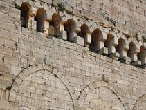 Castle wall. Ancient castle stone wall in Syria royalty free stock photography
