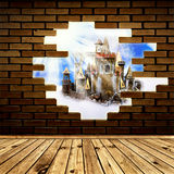 Castle in wall Royalty Free Stock Photos