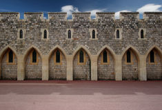 Castle wall. At Windsor castle, England royalty free stock photography