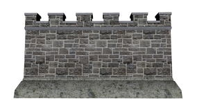 Free Castle Wall - 3D Render Royalty Free Stock Photo - 55829875
