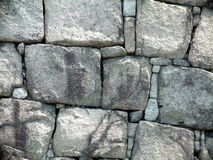 Castle Wall. Japanese castle wall constructed of large blocks royalty free stock photos