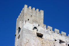Castle Wall Battlements Royalty Free Stock Photography