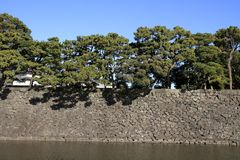 Castle wall of Edo castle. In Tokyo, Japan royalty free stock images