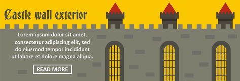 Castle wall exterior banner horizontal concept Stock Images