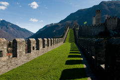 Castle wall II. Castle wall in Belinzona, Ticino Royalty Free Stock Photo