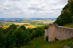 Castle wall and its surroundings Royalty Free Stock Images
