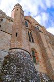 Castle wall of Mont Saint Michel Stock Images