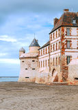 Castle wall of Mont Saint Michel Royalty Free Stock Photos