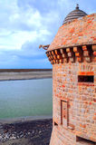 Castle wall of Mont Saint Michel Stock Photography