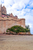 Castle wall of Mont Saint Michel Royalty Free Stock Photo