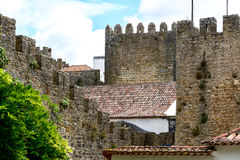 Castle and wall of Obidos (Portugal). Battlements, Castle and wall of Obidos (Portugal Royalty Free Stock Image
