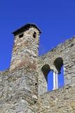 Castle wall. Of Castle Petersberg in Friesach, Austria Stock Photos