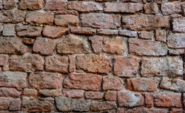 Castle wall from a red brick Stock Photography
