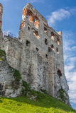 Castle wall. Ruins castle wall ,old, sky Stock Photography