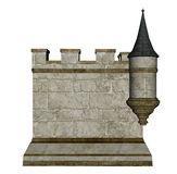 Castle wall and tower - 3D render Stock Photo