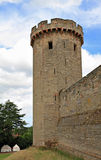 Castle wall and tower. Tower and wall of medieval castle Royalty Free Stock Images