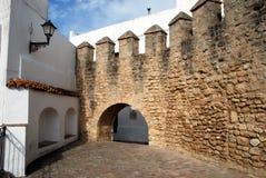 Castle wall, Vejer de la Frontera. Stock Images