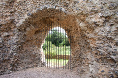 Castle wall and window detail Royalty Free Stock Images