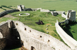 Castle walls. Spissky Hrad Castle. One of the biggest castle ruins in East Europe. Slovakia Stock Photos