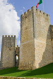 Castle Walls. Old Castle walls with blue sky and scattered clouds in the background Stock Image