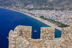 Castle walls of Alanya Stock Image