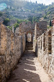 Castle walls of Alanya Royalty Free Stock Images