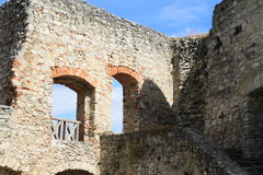 Castle walls with door and window Royalty Free Stock Image