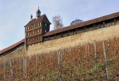 Castle walls, esslingen royalty free stock images