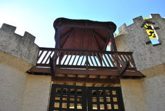 Castle walls with gate Royalty Free Stock Photography