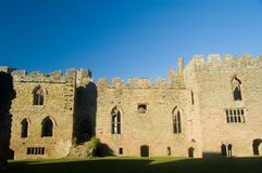 The castle walls of ludlow. Ludlow castle, ludlow, shropshire, united kingdom royalty free stock images