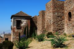 Castle walls, Malaga, Spain. Stock Photography