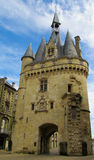 Castle walls and tower in Bordeaux, France Stock Images