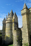 Castle walls and tower in France Royalty Free Stock Image