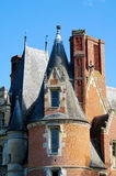 Castle walls and tower in France Stock Image