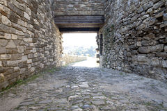 Castle Walls. Walls of the Castle in Veliko Tarnovo, Bulgaria Stock Images