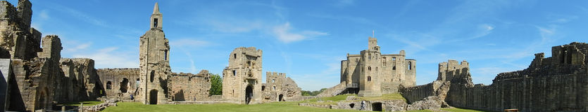 Castle, Warkworth, England Stock Photo