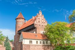 Castle of Warmian Bishops in old town of Olsztyn. Castle of Warmian Bishops in old town of Olsztyn, Poland Royalty Free Stock Photography