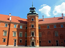 Castle of warsaw inside. On the sky Stock Photo