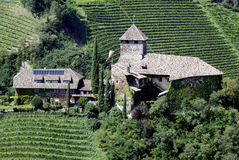 Castle Warth in Eppan. At the South Tyrolean wine route from the 15th century Royalty Free Stock Images