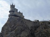 Famous Swallos's Nest castle near Gaspra, rimea, Russia royalty free stock photos