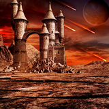 Castle on the wasteland Stock Photography