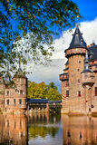 Castle on water. Medieival castle Da Haar, Holland Stock Image