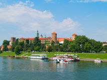 Castle at Wawel hill, Krakow, Poland Royalty Free Stock Photography