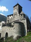 Castle Wehrburg in Italy. The picture shows Castle Wehrburg in Italy / South Tyrol Stock Photos