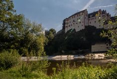 Castle Weilburg with the river Lahn in front. Stock Photography