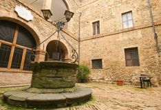 Castle well. Castle water well in tuscany Stock Image