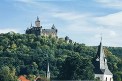 Castle in Wernigerode Germany. Europe royalty free stock photo